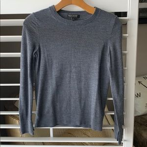 Banana Republic grey merino wool sweater. Small